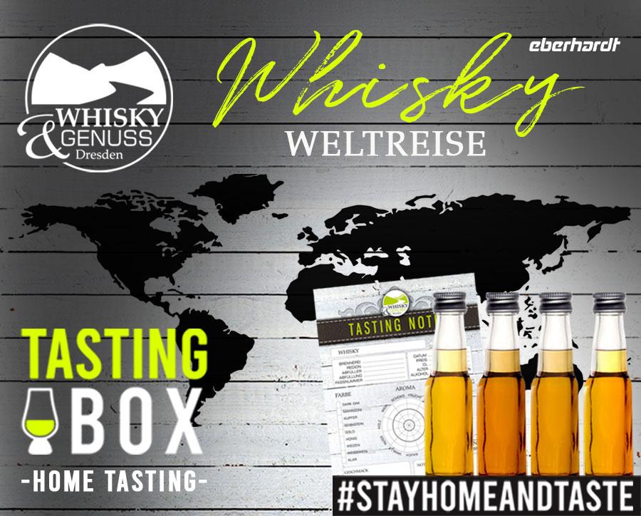 Mit Whisky um die Welt - Virtuelle Reise & Whiskyverkostung