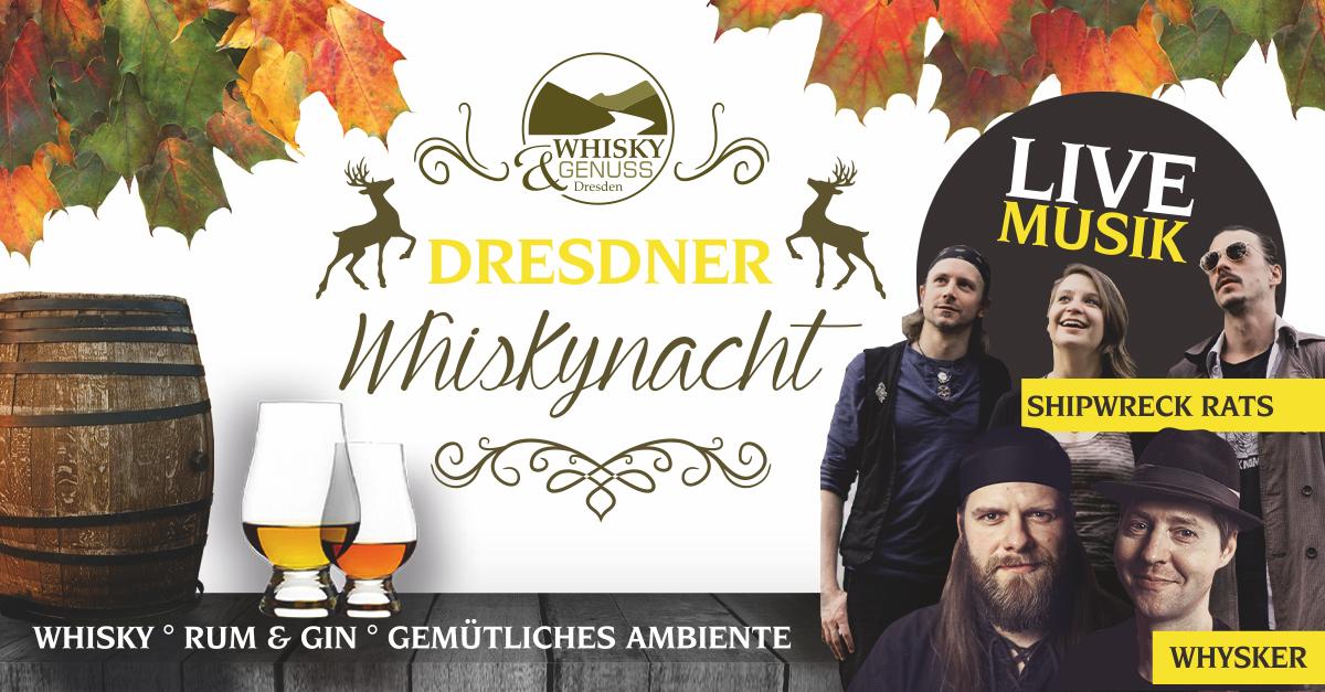 2. Dresdner Whisky Nacht - mit Live-Bands im Arteum